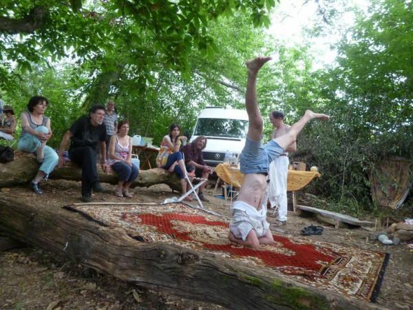 Rencontre au bois des houx à Montmaurin